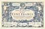 Banknotes Roubaix et Tourcoing (59). Billet. 100 francs du 27.3.1917, 9e série. N° 6016