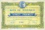 Banknotes Roubaix et Tourcoing (59). Billet. 20 francs, 4e série. N° 4053