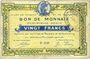 Banknotes Roubaix et Tourcoing (59). Billet. 20 francs, 4e série. N° 4148