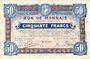 Banknotes Roubaix et Tourcoing (59). Billet. 50 francs du 12.8.1916, 8e série. N° 6005