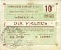 Banknotes Rouvroy (62). Commune. Billet. 10 francs 16.7.1915, série F2