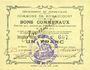 Banknotes Rumaucourt (62). Commune. Billet. 1 franc 16.8.1915, mention Annulé manuscrite