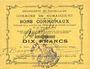 Banknotes Rumaucourt (62). Commune. Billet. 10 francs 20.12.1914, mention Annulé manuscrite