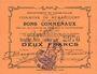 Banknotes Rumaucourt (62). Commune. Billet. 2 francs 16.8.1915, mention Annulé manuscrite