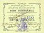 Banknotes Rumaucourt (62). Commune. Billet. 5 francs 16.8.1915, mention Annulé manuscrite