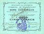 Banknotes Rumaucourt (62). Commune. Billet. 5 francs 20.12.1914, mention Annulé manuscrite