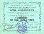Banknotes Rumaucourt (62). Commune. Billet. 5 francs 20.12.1914