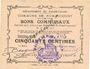 Banknotes Rumaucourt (62). Commune. Billet. 50 centimes 16.8.1915, mention Annulé manuscrite