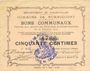 Banknotes Rumaucourt (62). Commune. Billet. 50 centimes 20.12.1914