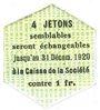 Banknotes Saint-Etienne (42). Chaléassière. Société des Moteurs. Billet. 25 centimes 31.12.1920