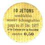 Banknotes Saint-Etienne (42). La Chaléassière. Le Flaive et Cie. Billet. 5 centimes 31.12.1917