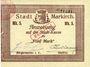 Banknotes Sainte-Marie-aux-Mines. Ville. Billet. 5 mark (7.8.1914). J. Frey et Paul Lacour. Cachet 31 mm