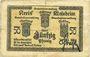 Banknotes Schirmeck. Ville. Billet. 50 pfennig 7.1918. Petit cachet communal