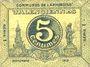 Banknotes Valenciennes (59). Communes de l'Arrondissement. Billet. 5 centimes, série 1