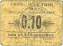 Banknotes Vred (59). Commune. 10 centimes 1915