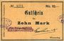 Banknotes Wesserling. Cros Roman & Cie. Billet. 10 mark. Annulé