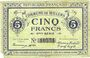 Banknotes Willems (59). Commune. Billet. 5 francs, 11e série
