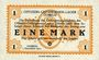 Banknotes Allemagne. Döbeln. Offizier- Gefangenenlager. Billet. 1 mark 1.12.1917