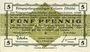 Banknotes Allemagne. Golzern. Kriegsgefangenenlager. Billet. 5 pf 1.2.1916