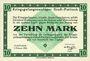 Banknotes Allemagne. Gross-Poritsch. Kriegsgefangenenlager. Billet. 10 mark 1.2.1916
