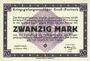 Banknotes Allemagne. Gross-Poritsch. Kriegsgefangenenlager. Billet. 20 mark 1.2.1916