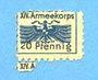 Banknotes Allemagne. Karlsruhe. XIV. Armeekorps. Scheckmarken. Billet. 20 pf n. d.