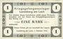 Banknotes Allemagne. Landsberg. Kriegsgefangenenlager. Billet. 1 mark 1.10.1915