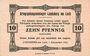 Banknotes Allemagne. Landsberg. Kriegsgefangenenlager. Billet. 10 pf 1.12.1916
