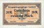 Banknotes Allemagne. Lechfeld. Kriegsgefangenenlager. Billet. 20 mark 25.1.1917