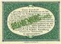 Banknotes Brandenburg. Inspektion der KGL im Bereich des XIII. Armeekorps. Billet. 25 pf 1.10.1917