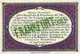 Banknotes Frankfurt Oder. Inspektion der KGL im Bereich des XIII. Armeekorps. Billet. 50 pf 1.10.1917