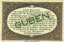 Banknotes Guben. Inspektion der KGL im Bereich des XIII. Armeekorps. Billet. 1 pf 1.10.1917