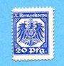 Banknotes Hannovre. X. Armeekorps. Scheckmarken. Billet. 20 pf (1915)