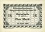 Banknotes Lieu d'émission inconnu. Kriegsgefangenen - Bergarbeiter-Bataillon III. Billets. 1 mark 15.4.1918