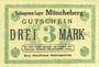 Banknotes Müncheberg. Gefangenenlager. Billet. 3 mark n. d.