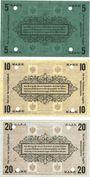Banknotes Plassenburg. Offizier- Gefangenenlager. Billets. 5 mk série E, 10 mk série B, 20 mk série E