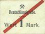 Banknotes Schwientochlowitz (Swietochlowice, Pologne). Deutschlandgrube. Billet. 1 mark n. d. Inédit !