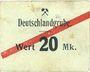 Banknotes Schwientochlowitz (Swietochlowice, Pologne). Deutschlandgrube. Billet. 20 mark n. d.