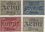 Banknotes Alzey. Stadt. Billets. 10, 25, 50 pf 31.12.1919 , 10 pf 1.2.1921