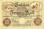 Banknotes Annaberg. Amtschauptmannschaft. Billet. 20 mark 1.11.1918 timbre sec, cachet d'annulation