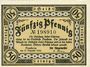 Banknotes Bensheim. Stadt. Billet. 50 pfennig 31.12.1920