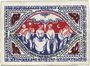 Banknotes Bielefeld. Stadt. Billet. 50 mark en soie 2.4.1922. Inédit !