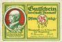 Banknotes Bismark. Stadt. Billet. 25 pf 18.3.1921, numérotation à 3 chiffres