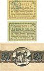 Banknotes Bitburg. Stadt. Billets. 25 pf, 50 pf n.d. ; 25 pf 1.4.1920