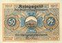 Banknotes Blankenburg Bad. Stadt. Billet. 50 pfennig 1917
