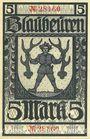 Banknotes Blaubeuren. Amtskörperschaft. Billet. 5 mark n.d. - 1.8.1919