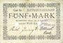 Banknotes Blumenthal. Bremer Wollkämmerei. Billet. 5 mark 22.4.1919, annulation par perforation