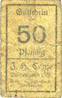 Banknotes Borgentreich. J.H. Conze. Billet. 50 pf, série L (1920)