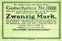 Banknotes Bremen. Atlas-Werke A.G., Billet. 20 mark 6.11.1918