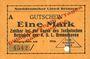 Banknotes Bremerhaven. Norddeutscher Lloyd Bremen. Billet. 1 mark 1914, annulation par perforation